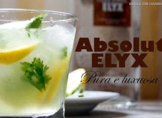 Drink com limão siciliano