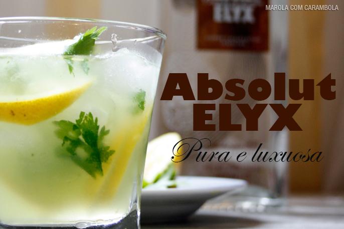 Caipirinha de limão Siciliano com Absolut Elyx