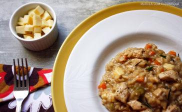 Receita de Risoto de frango com queijo coalho