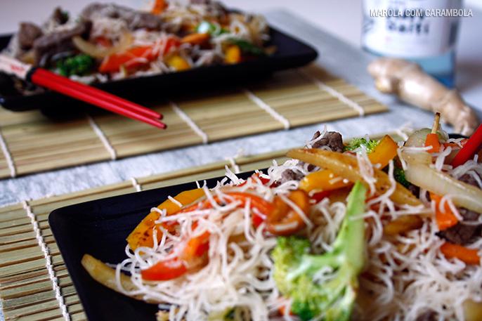 Receita de Bifum com filé e legumes