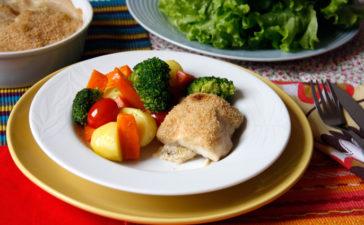 Receita de Bacalhau com Natas e Legumes