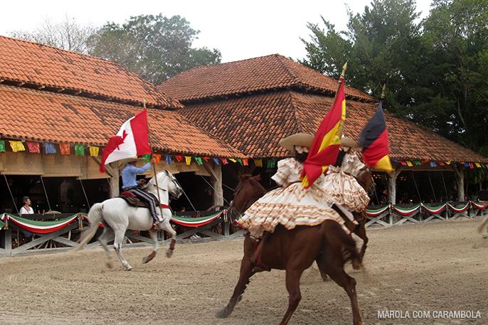 Espetáculo com cavalos