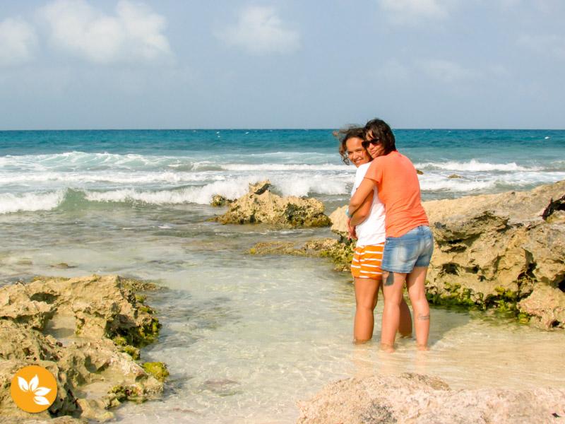 Eloah e Amanda na Isla das Mujeres