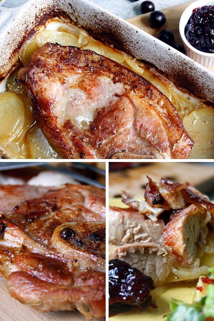 Receita de Paleta Suína Assada com Batatas e Geleia de Jabuticaba