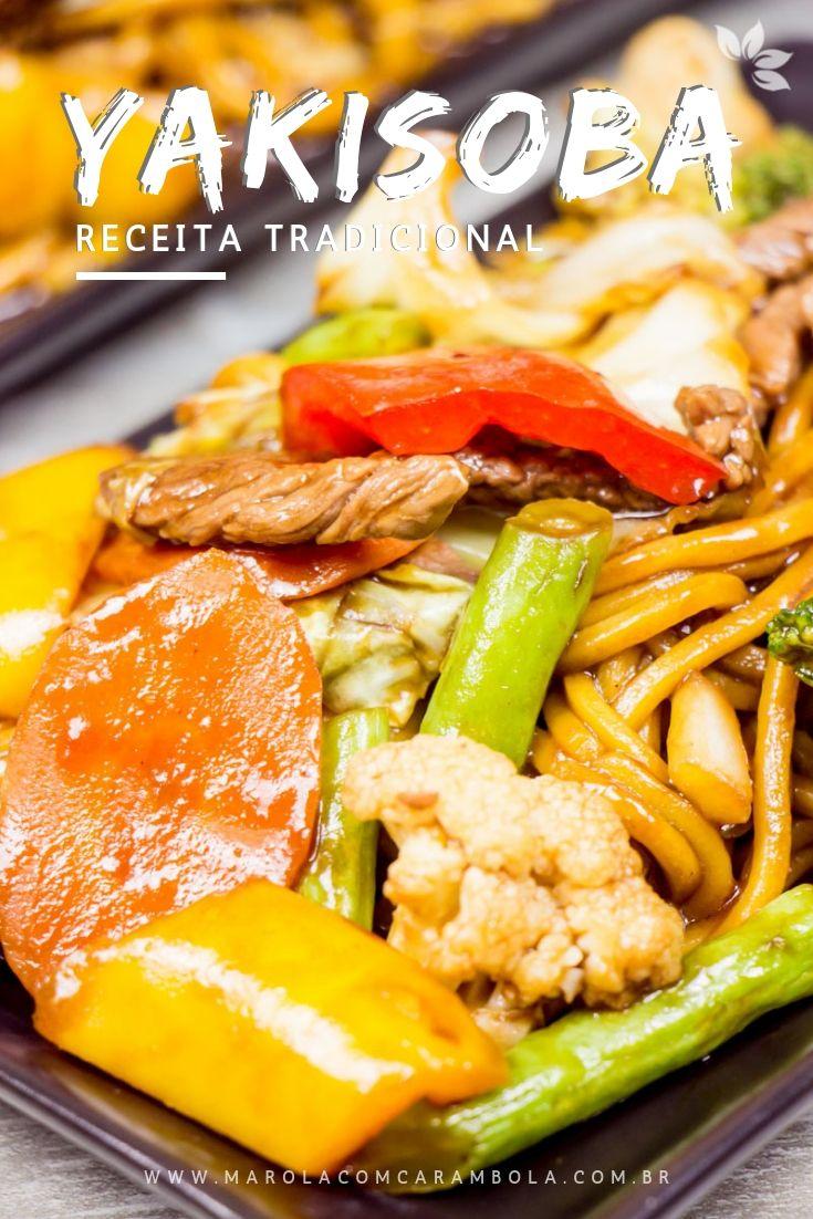 Receita de Yakisoba tradicional de Carne