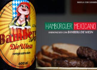 Hambúrguer mexicano com cerveja Bamberg Die Wiesn