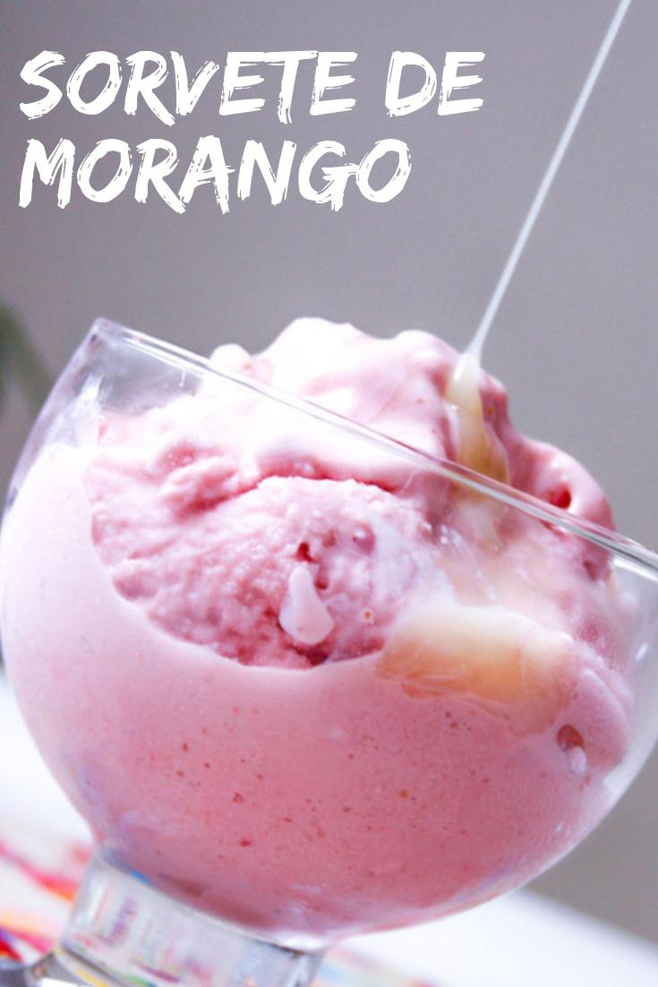 Receita de Sorvete de Morango Caseiro