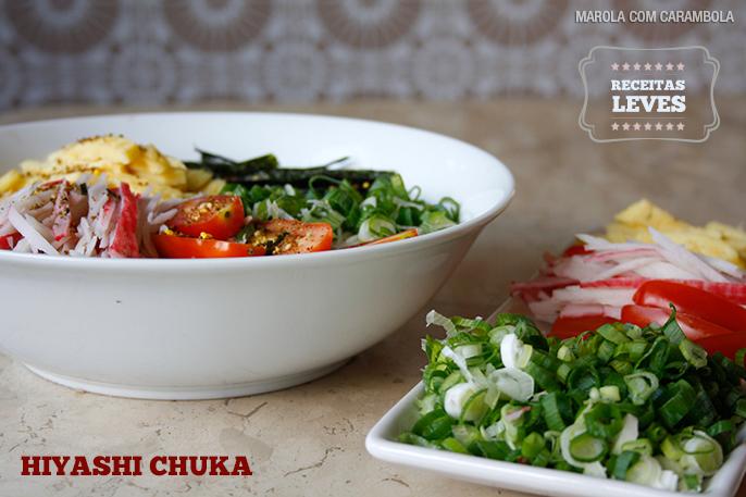 Receita oriental Hiyashi Chuka