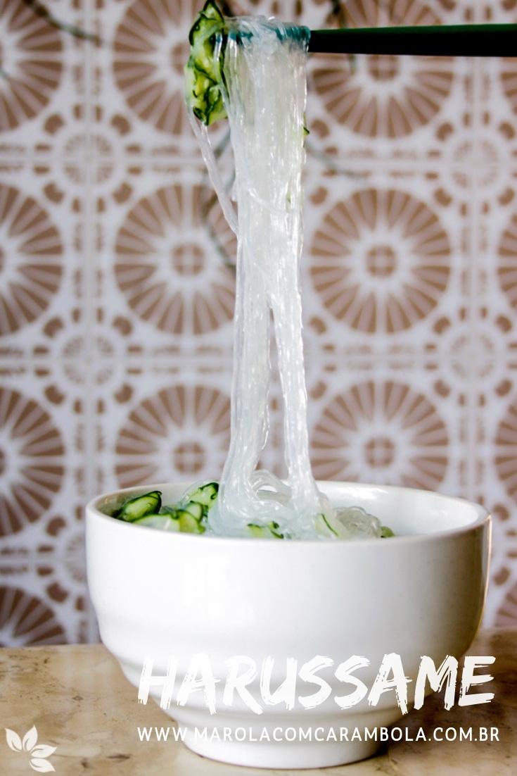 Receita de Salada de Harussame com Pepino