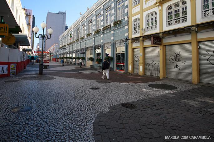 Calçadões pelo centro de Florianópolis