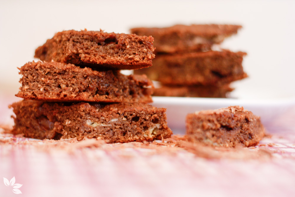 Receita de brownie de chocolate com banana