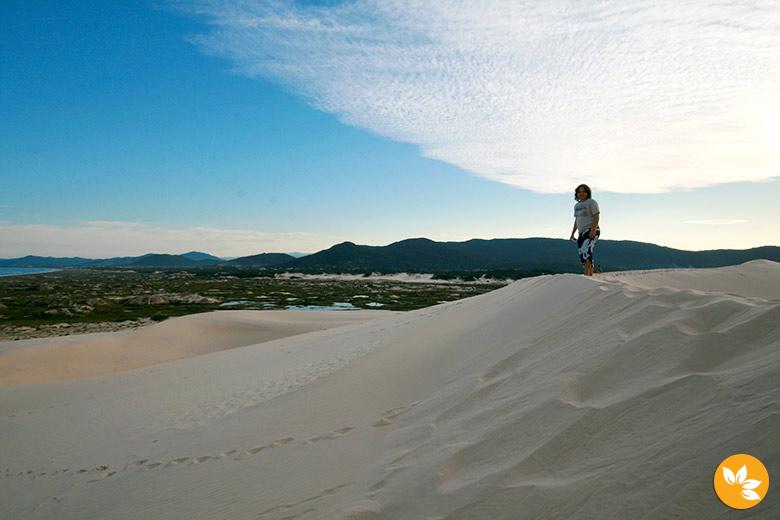 Eloah nas dunas de Florianópolis
