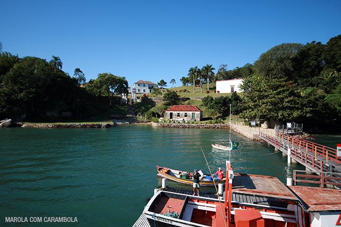 Chegada na Ilha Anhatomirim em Florianópolis