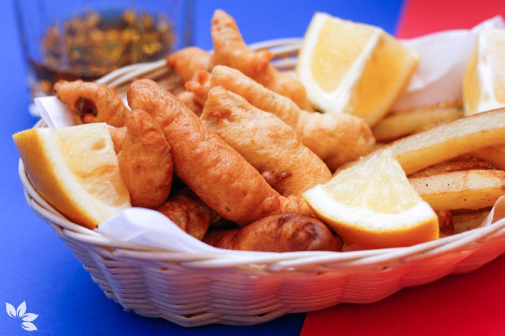 Receita de Fish and chips