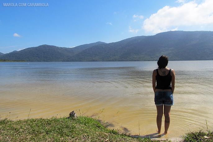 Amanda Fernandes na Lagoa do Peri