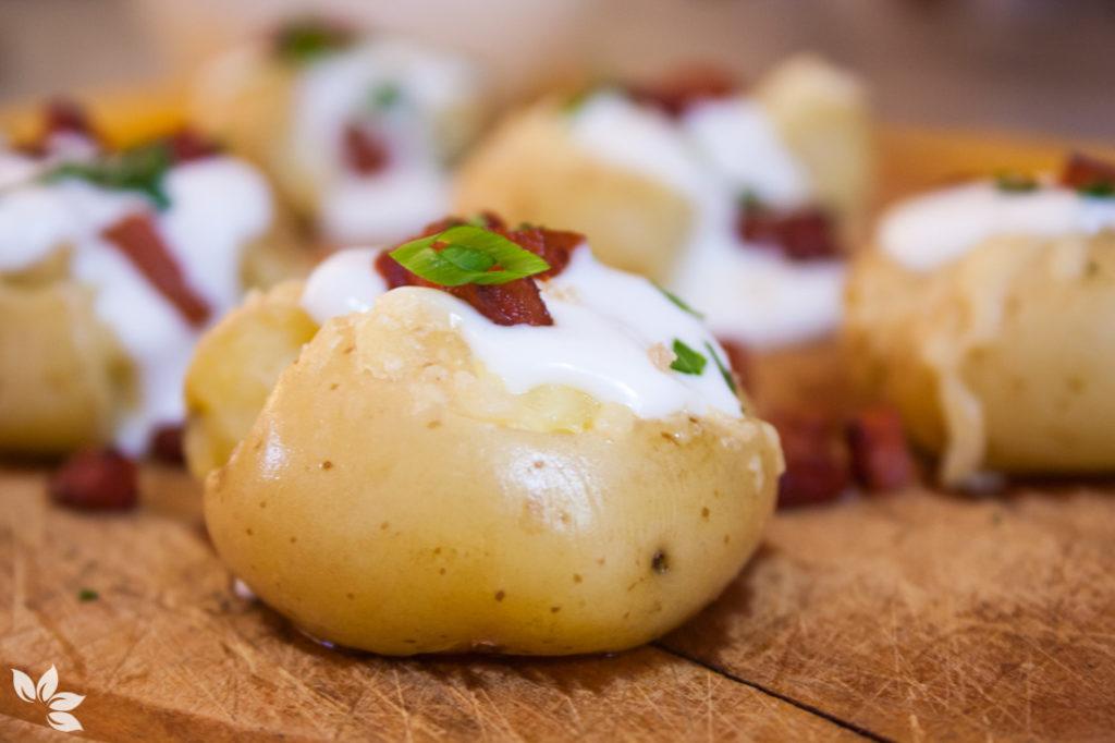 Receita de Batatas ao Murro com bacon