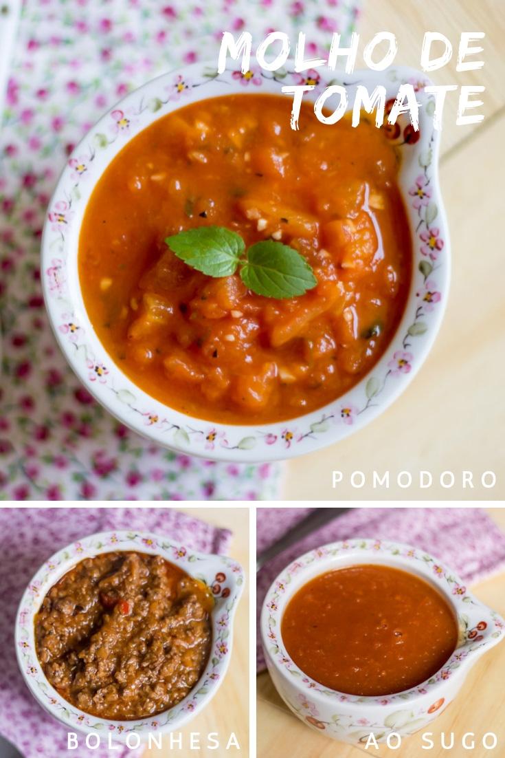 Molho de Tomate - Molho ao Sugo, pomodoro e bolonhesa