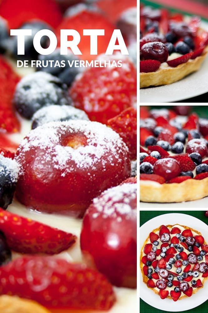 Receita de Torta de Frutas Vermelhas com Cardamomo