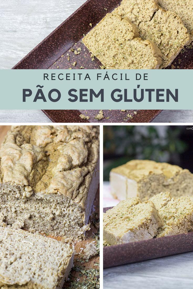 Receita de Pão sem Glúten com Chia e Quinoa