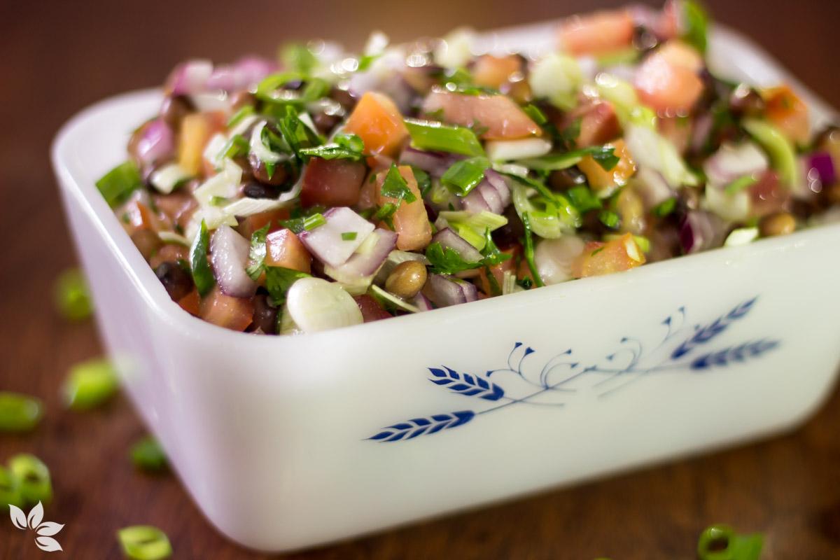 Receita de Salada de Feijão Andu