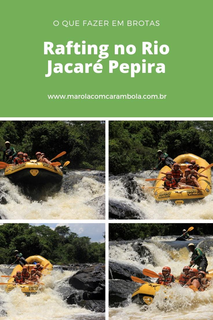 O que fazer em Brotas – o Rafting no Rio Jacaré Pepira