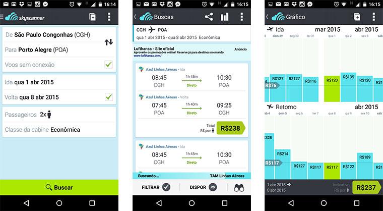 6 Apps gratuitos para aproveitar melhor a sua viagem - Skyscanner