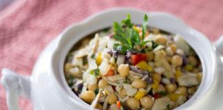 Receita de Salada de Grão de Bico com Bacalhau