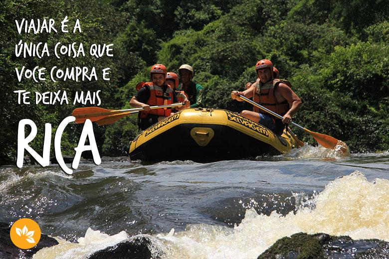 Frases inspiradoras de viagem - Viajar é a única coisa que você compra e te deixa mais RICA!