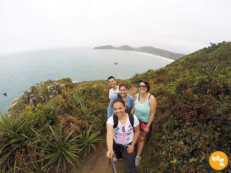 Encontro na Praia do Rosa com leitores do blog