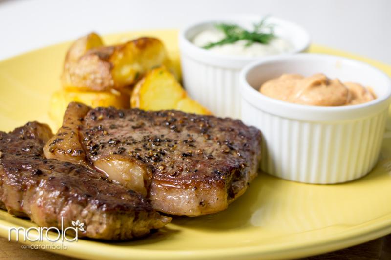 Receita de Bife Ancho com Batatas - Chef Henrique Fogaça