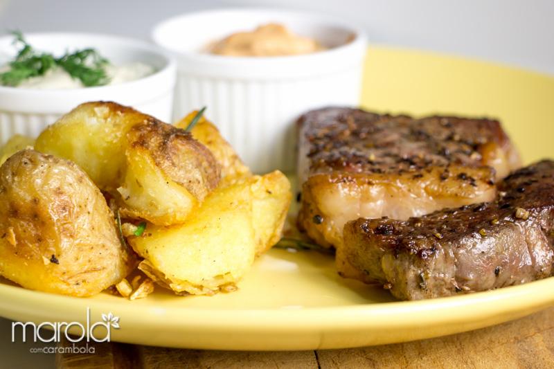 Receita de Bife Ancho com Batatas - Chef Henrique FogaçaReceita de Bife Ancho - Chef Henrique Fogaça