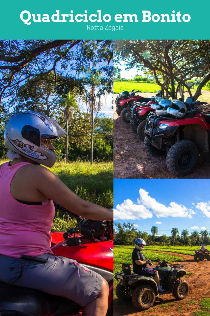 Passeio de Quadriciclo em Bonito é uma da opção de passeio para fazer na cidade! Nós escolhemos a Rotta Zagaia, que tem um percurso recheado de adrenalina.