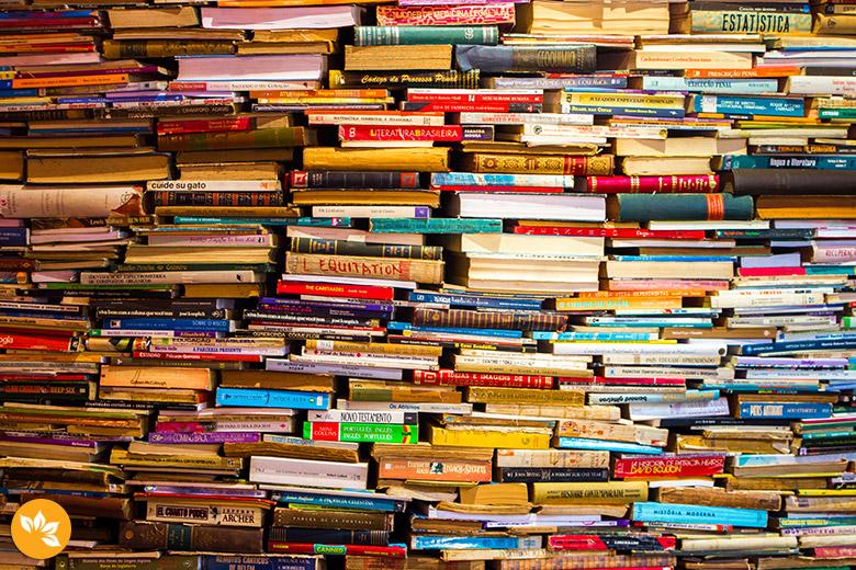 Livros na exposição de Câmara Cascudo