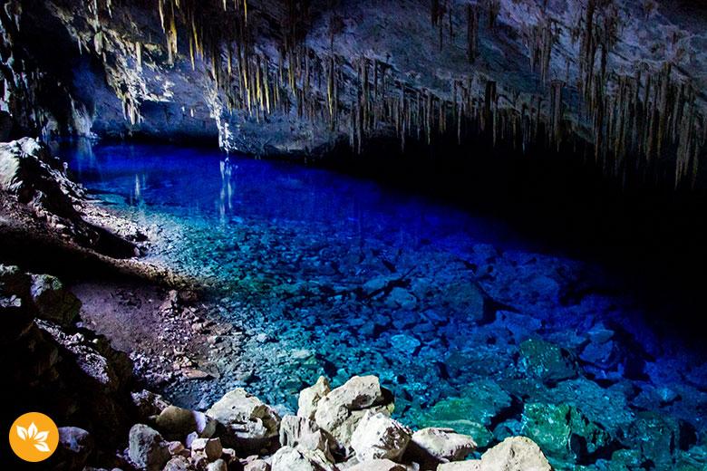 Viagem para Bonito - Gruta do Lago Azul