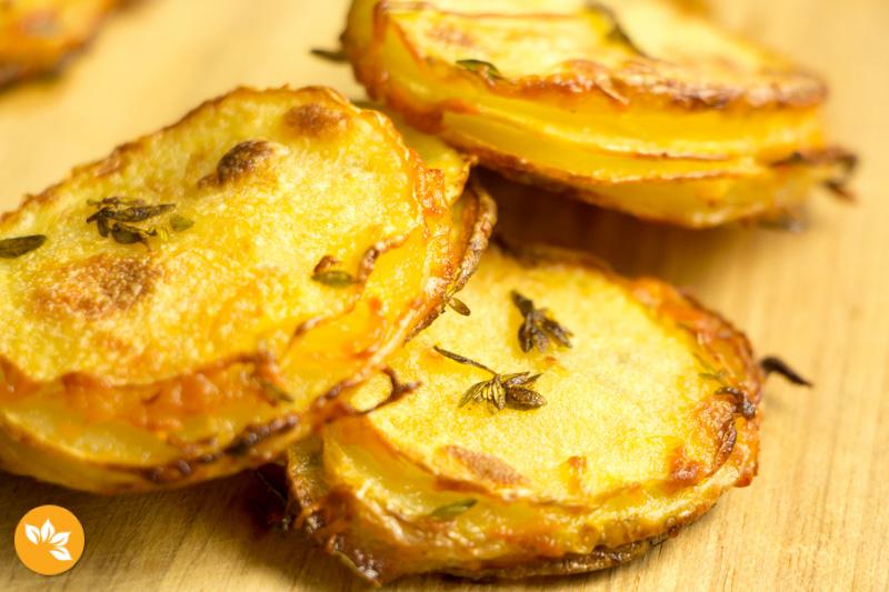 Batata crocante com parmesão