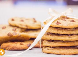 Cookies com gotas de chocolate