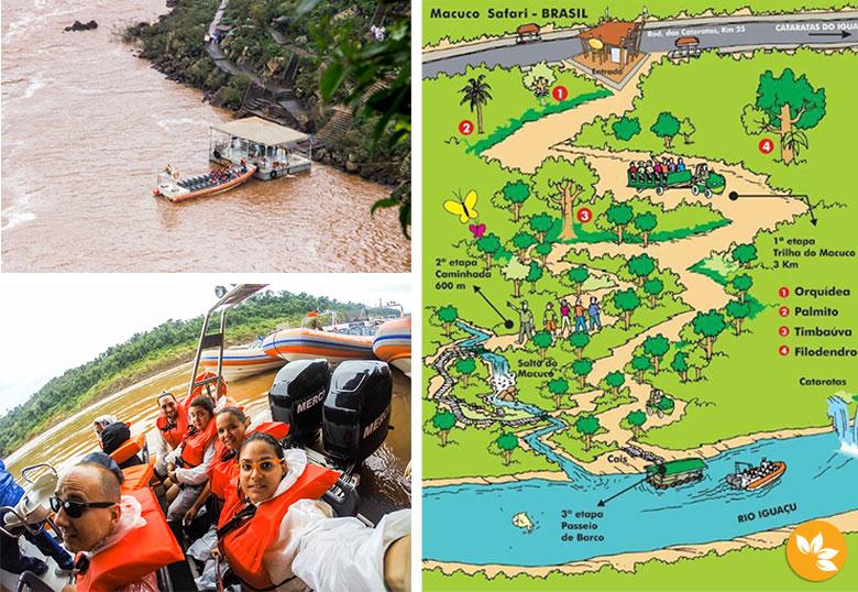 Passeio de barco pelo Rio Iguaçu