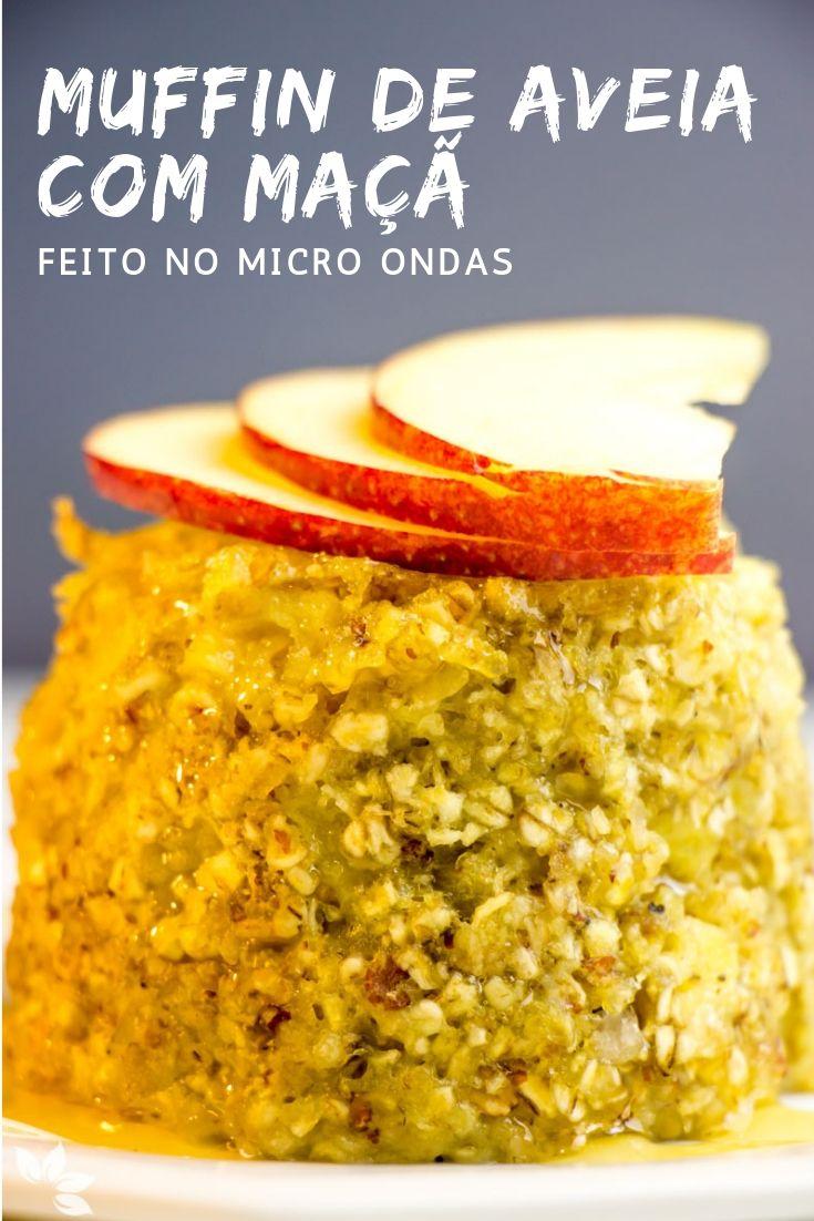 Receita de Muffin de Aveia com Maçã no Micro ondas