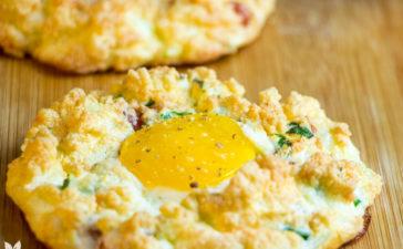 Receita de Ovos em Nuvem com Bacon