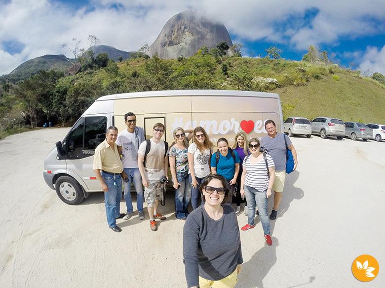 Grupo de blogueiros conhecendo o Parque Estadual da Pedra Azul