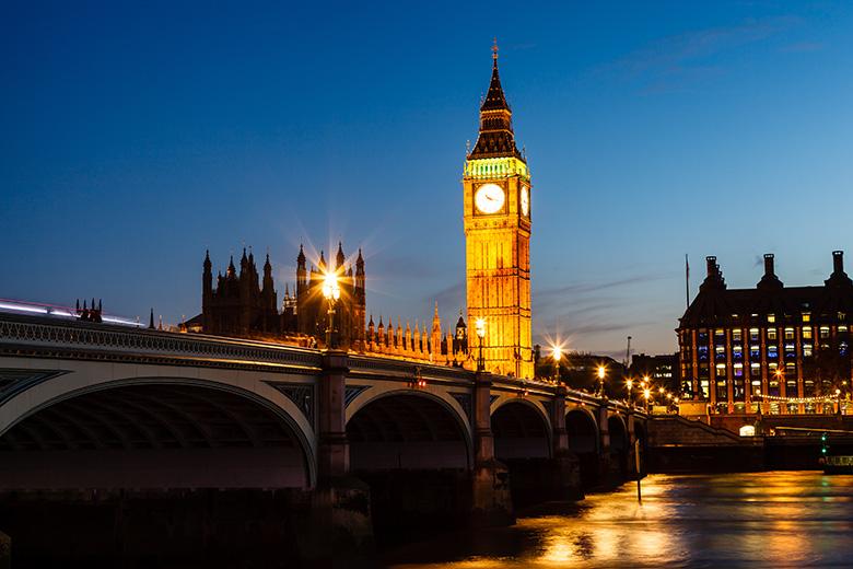 Torre Big Ben de Londres na Inglaterra