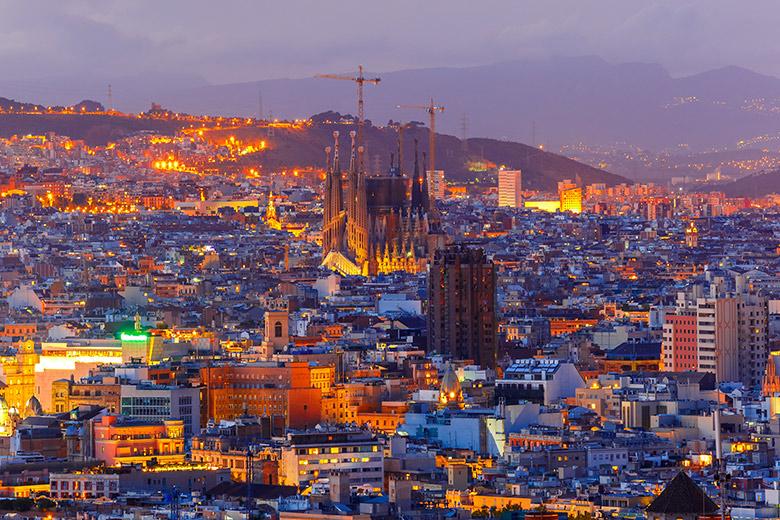 A Sagrada Família em Barcelona na Espanha