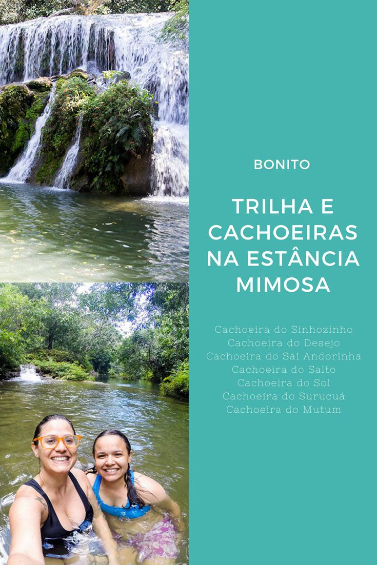 Passeios em Bonito - na Estância Mimosa é possível conhecer 9 incríveis cachoeiras! Cachoeira do Mutum, do Surucuá, do Salto, do Sinhozinho e muitas outras.