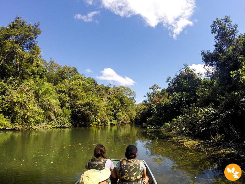Trajeto de Barco na Estância Mimosa - Cachoeiras