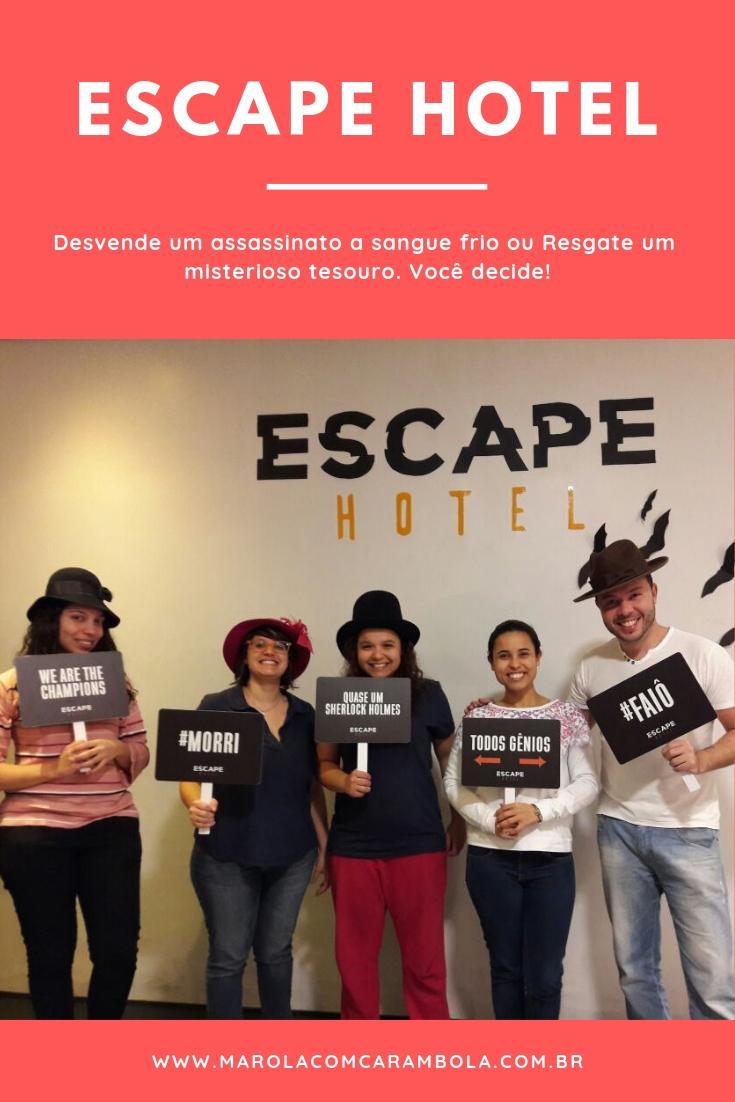 Escape Hotel - O novo jogo de fuga. Salve a Loira do Banheiro, Desvende um assassinato a sangue frio ou Resgate um misterioso tesouro. Você decide!