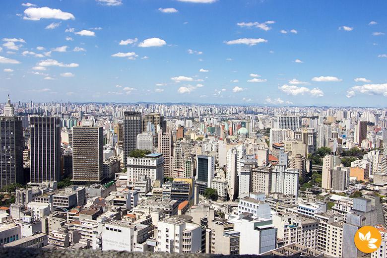 Fim de Semana em São Paulo - Vista do Terraço Itália