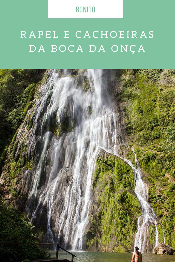 Passeios em Bonito - na Boca da Onça você conhece 10 cachoeiras, dentre delas a maior do Mato Grosso do Sul e faz o maior Rapel de plataforma do Brasil!