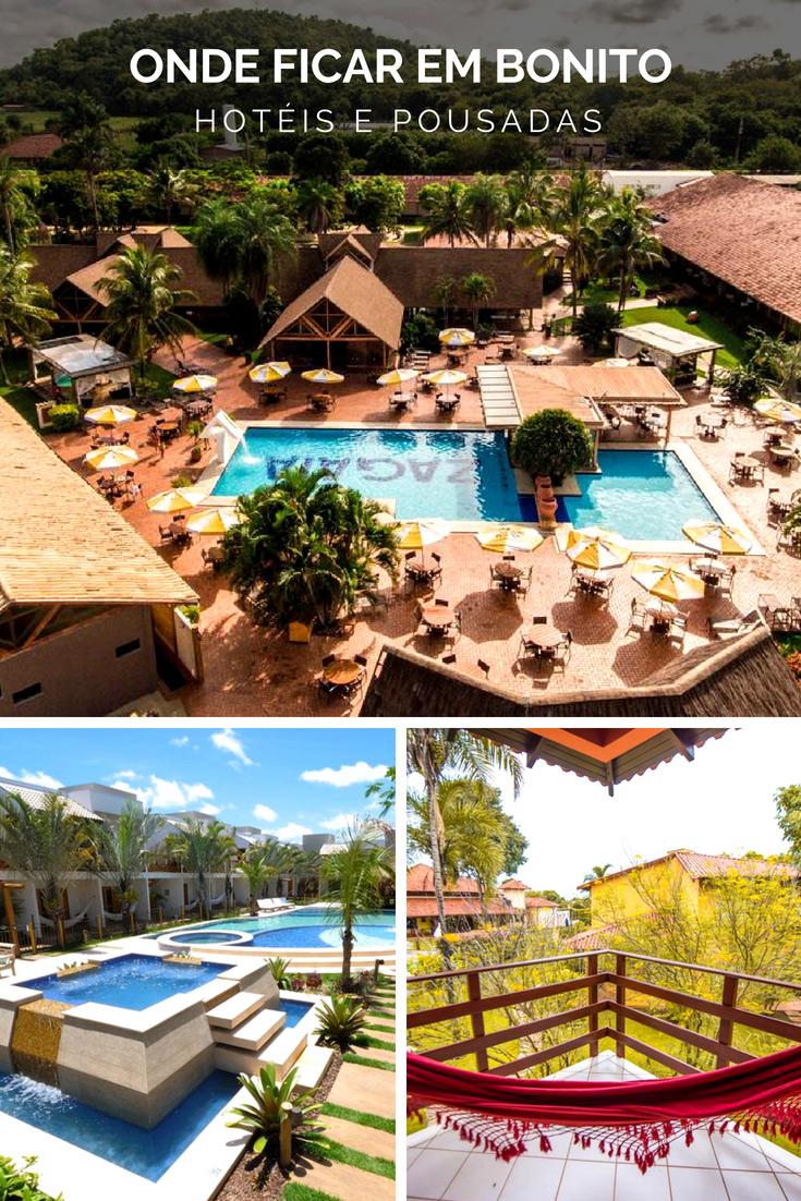 Onde Ficar em Bonito - Selecionamos as melhores opções de Hotéis e Pousadas para você que está planejando uma viagem para Bonito.