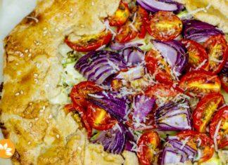 Galette de Abobrinha com Tomates - Vegetariano
