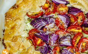 Receita de Galette de Abobrinha com Tomates - Vegetariano